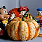 Micky Donald & Minny enjoy Pumpkin by Elaine123