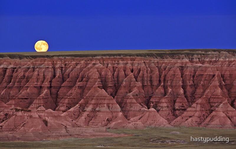 Harvest moon over the badlands badlands national park sd quot by