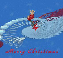 On Angels Wings - Merry Christimas by Lynda K Cole-Smith