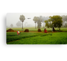The Village Life Canvas Print