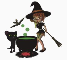 Cauldron Witch Shirts & Stickers by Rivendell