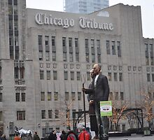 Chicago Tribune Building and Farmers by cfromchicago