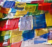 Prayer Flags, Bhouda, Kathmandu by AlliD