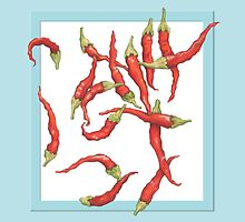 Red Hot Chillies blue by mrana