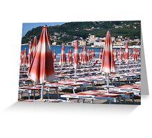 Awaiting the rush Diano Marina Italy Greeting Card