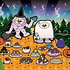 Monster Halloween Teaparty by thickblackoutline