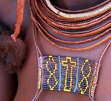 Beaded cross on Himba girl by Antionette