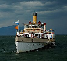Approaching storm on Chiemsee Lake, Germany. by David A. L. Davies