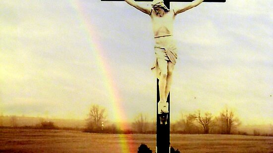 jesus and rainbow by Leeanne Middleton