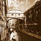 *Bridge of Sighs, Venice* - *Sepia* by Colin Metcalf