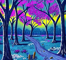 """Lil' Purple Stream""  by Steve Farr"