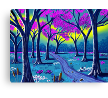 """Lil' Purple Stream""  Canvas Print"