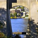 Bridge frame of Lake Union by Mike Cressy
