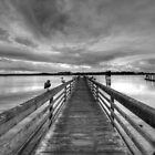 Dock at dusk by Avena Singh