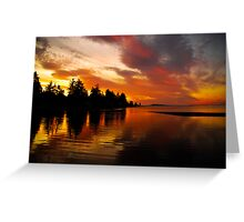 Light Show From God Greeting Card
