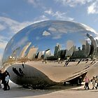 &quot;Cloud Gate&quot; aka &quot;The Bean&quot; in Chicago by Susan Russell