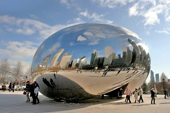 """Cloud Gate"" aka ""The Bean"" in Chicago by Susan Russell"