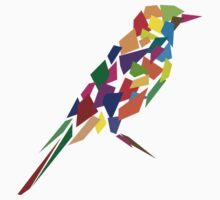 Colorful Abstract Bird by Akhilesh