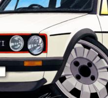 VW Golf (Mk1) GTi White Sticker