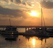 National Harbor Sunset by Carol Bock