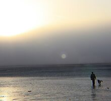 Morning Stroll With the Dog - Worthing by Matthew Floyd