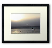 Morning Stroll With the Dog - Worthing Framed Print