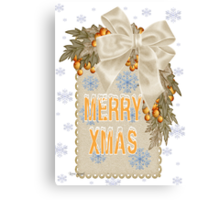 A Sparkling Merry Christmas Canvas Print