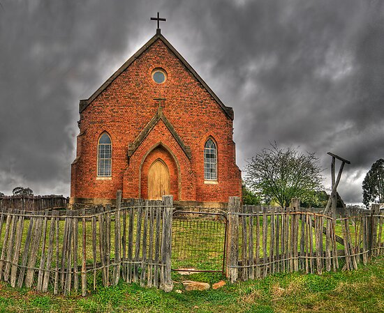 Discarded Heart - Sacred Heart Church (c1872) , Hill End Australia - The HDR Experience by Philip Johnson