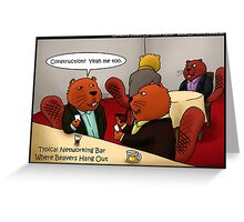 Beavers Networking by Londons Times Cartoons Greeting Card