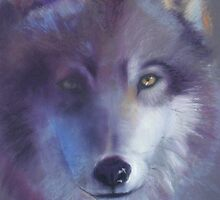 Pathfinder - Wolf totem by Cheryl White