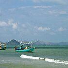 Traditional fishing boats. Hua Hin, Thailand. by johnrf