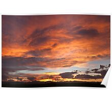 Whirlpool Sunset Over The Rockies Poster