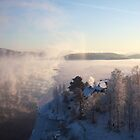 Vapors rising from a freezing river, Höga Kusten / High Coast, Sweden 1 by intensivelight