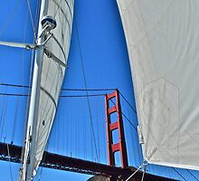 Sailing Under The Golden Gate by Scott Johnson