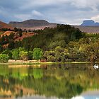 Naverone Lake, Drakensberg, South Africa by Sharon Bishop