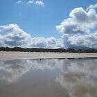 Beach and sky by nickilalala