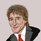 Rod Stewart by Tricia Winwood