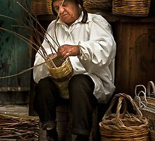""" CANE WORKER AT MEDIEVAL MDINA MALTA"" by RayFarrugia"
