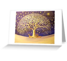 NIGHT FILLED WITH STARS Greeting Card