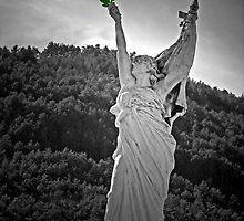 Sisteron, France Statue by Al Bourassa