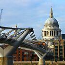 Millennium Bridge & St Paul's Cathedral by Ken Scarboro