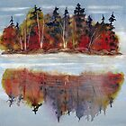 Autumn Reflections (Near Algonquin, Ontario) by bevmorgan