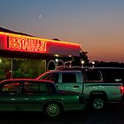 Crescent Moon over Cajun Restaurant by Briar Richard