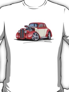 1936 Plymouth Coupe (A) Red T-Shirt