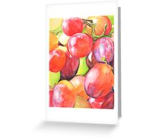 Grapey Bunch Greeting Card