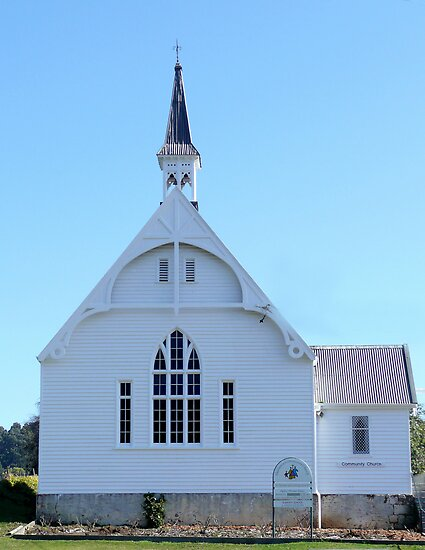 Geeveston Community Church, Tasmania by Margaret  Hyde