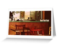 Take Out ( Americana Series )  Greeting Card