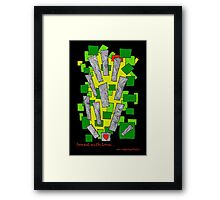 bored with love... Framed Print