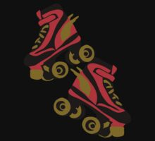 Cool golden roller skates Roller Derby by patjila