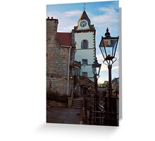 The Jubilee clock tower - Queensferry Greeting Card